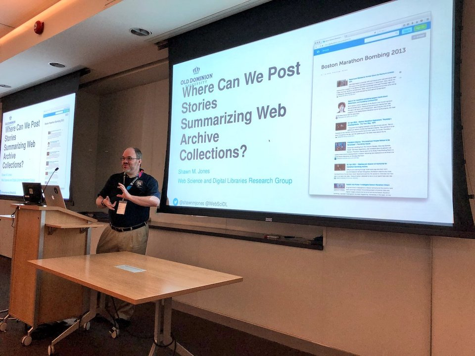 Storytelling with Web Archive Collections at Archives Unleashed 2017